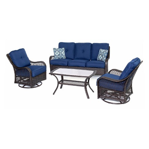 Orleans 4 Pc All-Weather Patio Set - Sahara Sand - Hanover - image 1 of 1