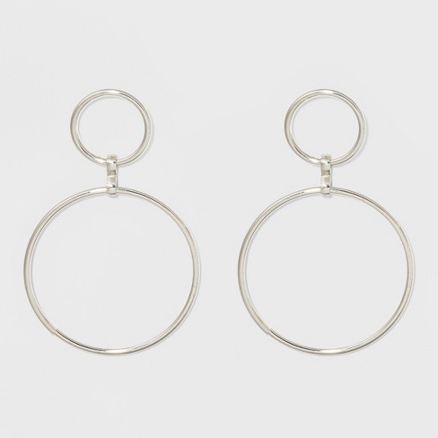 Open Work Circles With Bar Post Back Metal Hoop Earrings A New Day