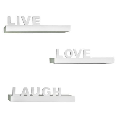 Live, Love, Laugh Shelves - image 1 of 3
