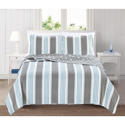 Home Fashion Designs St. Croix Coastal Beach Theme Quilt Set