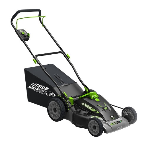 "18"" 40 Volts, 240 Watts Lithium Cordless Electric Lawnmower - Black - Earthwise - image 1 of 4"