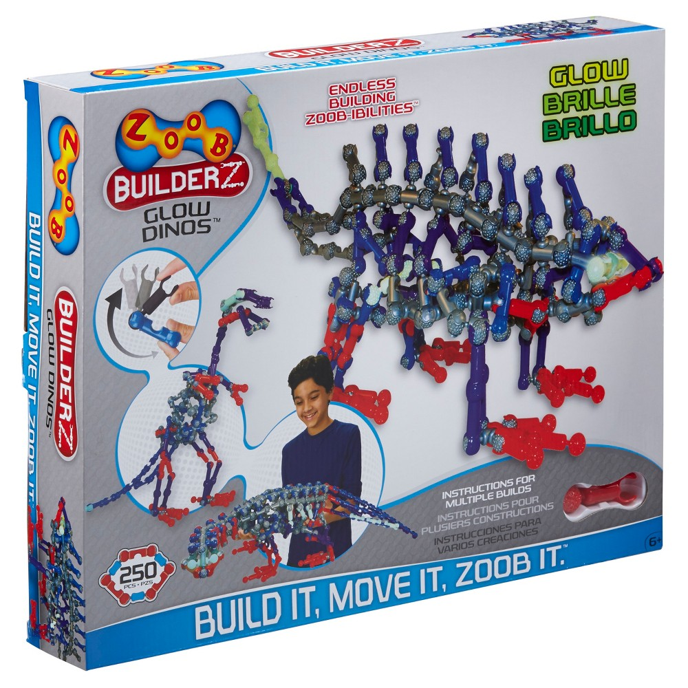 ZOOB BuilderZ Glow Dinos, Building Sets