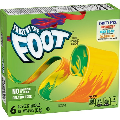 Fruit by the Foot Variety Pack Fruit Snacks - 6ct - image 1 of 3