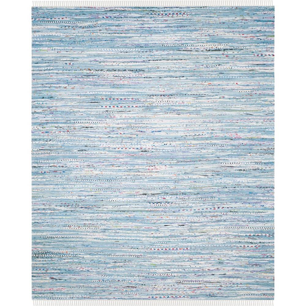 9'X12' Spacedye Design Woven Area Rug Light Blue - Safavieh, Light Blue/Multi-Colored