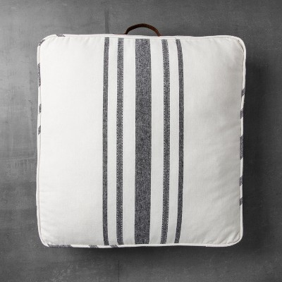 Square Floor Pillow - Black Stripe - Hearth & Hand™ with Magnolia
