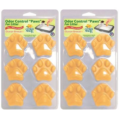 Citrus Magic Litter Paws in Ocean Breeze Cat Litter - 2ct