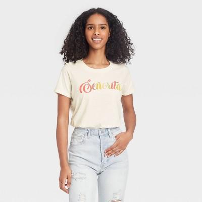 Women's Senorita Short Sleeve Graphic T-Shirt - Off-White