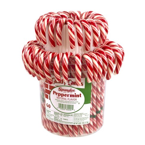 Spangler Peppermint Candy Cane Jar - 60ct - image 1 of 3