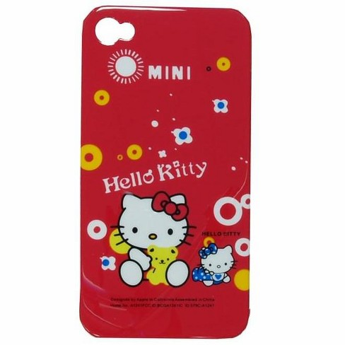 For iPhone 4 Cover Hello Kitty Red Mini W/ Teddy Bear Yellow - image 1 of 1