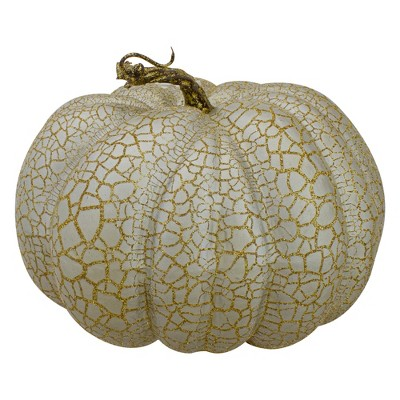 "Northlight 7"" Champagne Gold Fall Harvest Tabletop Pumpkin"