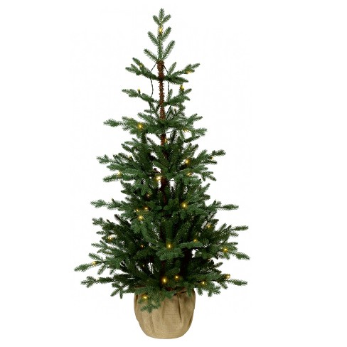 best cheap afe95 b7f29 4ft Pre-lit Artificial Christmas Tree Potted Balsam Fir Slim Warm White LED  Lights - Wondershop™