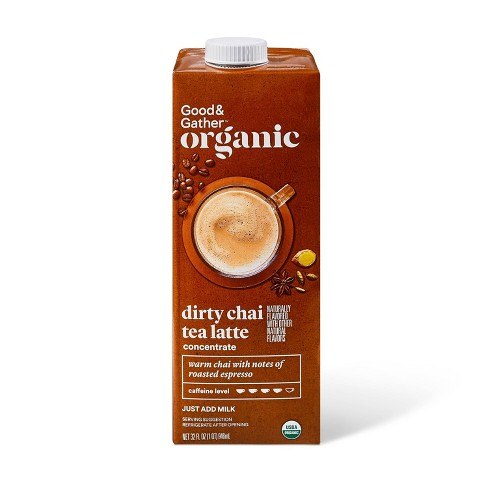 Organic Dirty Chai Tea Latte Concentrate - 32oz - Good & Gather™ - image 1 of 3
