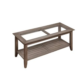 Carmel Coffee Table Driftwood Brown - Johar Furniture