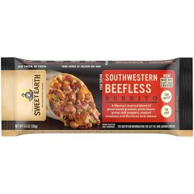 Sweet Earth Frozen Southwestern Beefless Burrito - 5.5oz