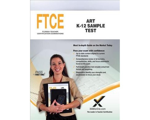 Ftce Art K-12 Sample Test -  by Sharon A. Wynne (Paperback) - image 1 of 1