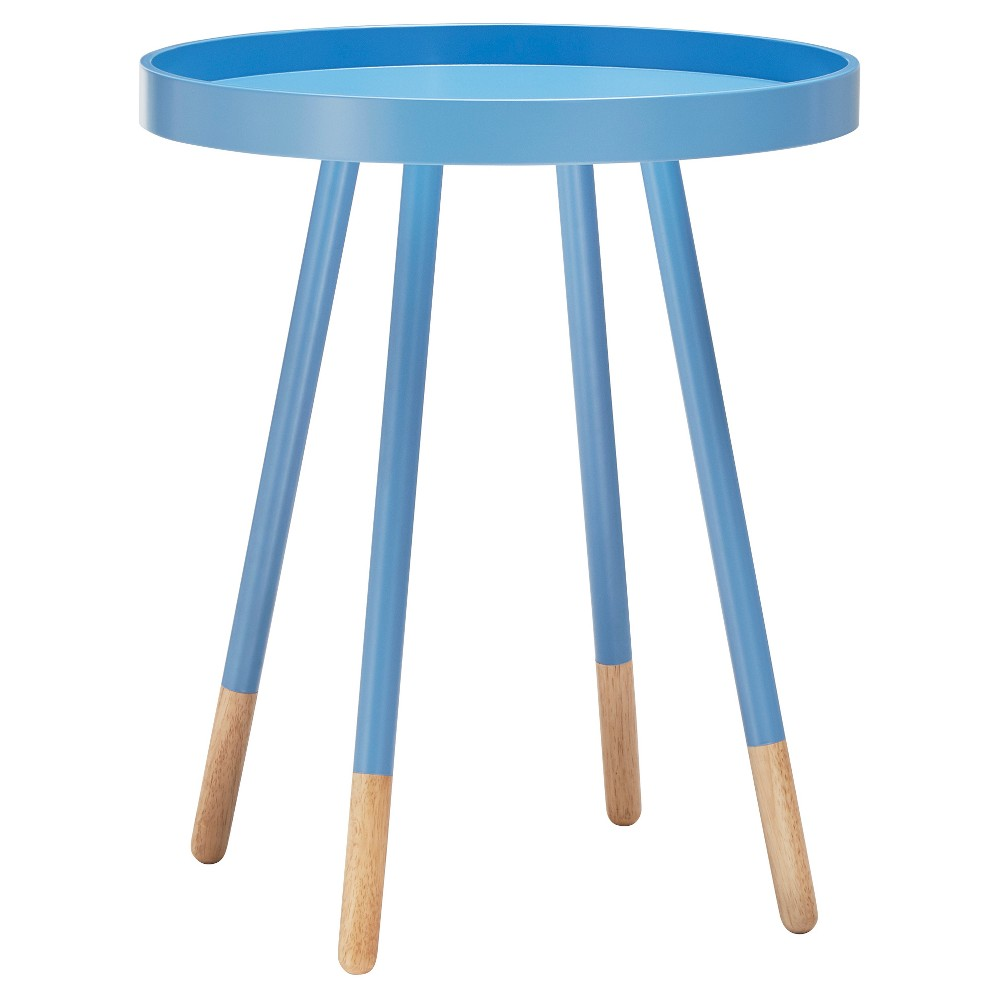 Image of Olcott Mid Century Tray Top Accent Table - Blue - Inspire Q