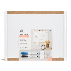 "16"" x 20"" Pin it Frame Magnetic Dry Erase Board Value Pack - U-Brands"