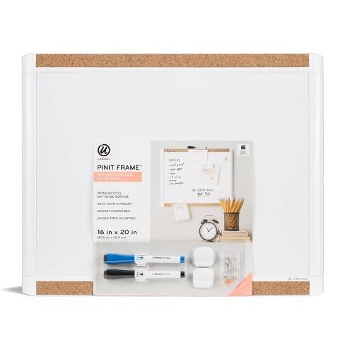 "16"" x 20"" Pin it Frame Magnetic Dry Erase Board Value Pack - U-Brands - image 1 of 4"