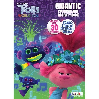 Trolls World Tour Gigantic Coloring Book - Target Exclusive Edition : Target
