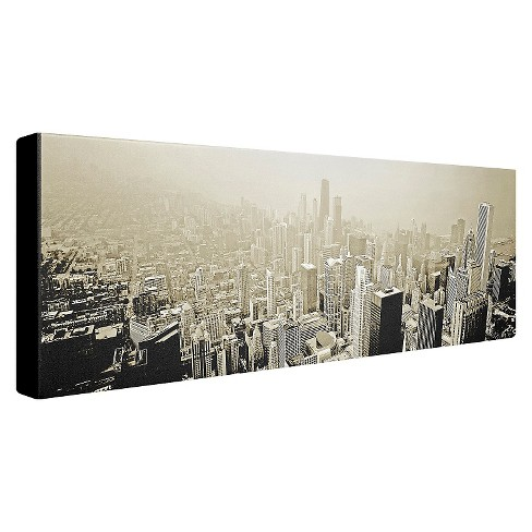 Chicago Skyline\' by Preston Ready to Hang Canvas Wall Art : Target