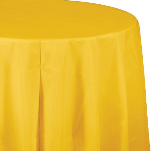 School Bus Yellow Disposable Tablecloth - image 1 of 1