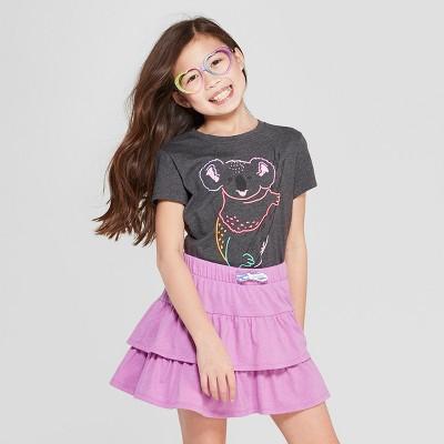 49fdb5c1985825 Girls  Short Sleeve Koala Printed T-Shirt - Cat   Jack™ Gray