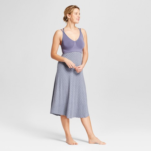 Women's Total Comfort Seamless Pajama Nightgown - Gilligan & O'Malley™ Blue Print - image 1 of 2