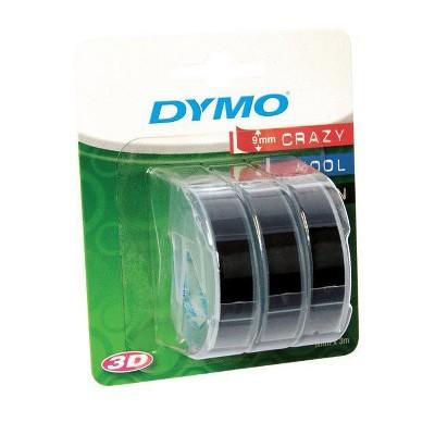 Label Maker Tape Cartridges 3ct Black - Dymo