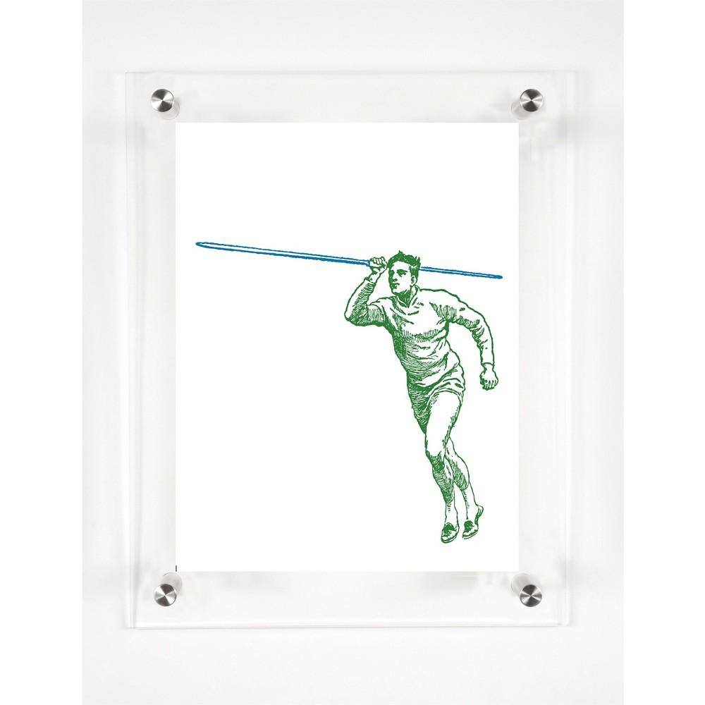 Mitchell Black Olympian Javelin Decorative Framed Wall Canvas Grass Royal (12