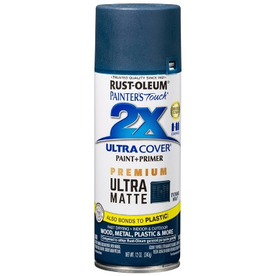 Rust-Oleum 12oz 2X Painter's Touch Ultra Cover Matte Evening Spray Paint Dark Blue
