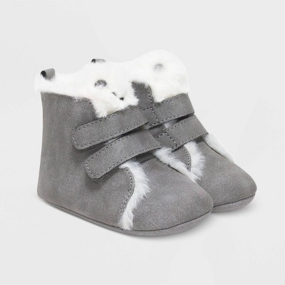 Baby Girls' Ro+Me by Robeez Bear Sneakers - Gray