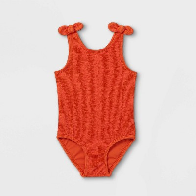 Toddler Girls' Bow Shoulder Bikini Set - Cat & Jack™ Rust