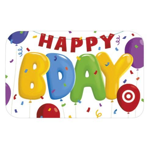 Birthday Celebration GiftCard Target