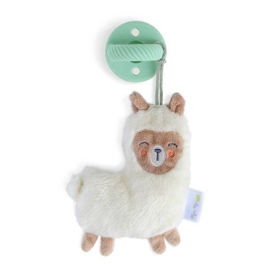 Itzy Ritzy Sweetie Pal - Pacifier and Plush Pacifier Pal - Llama