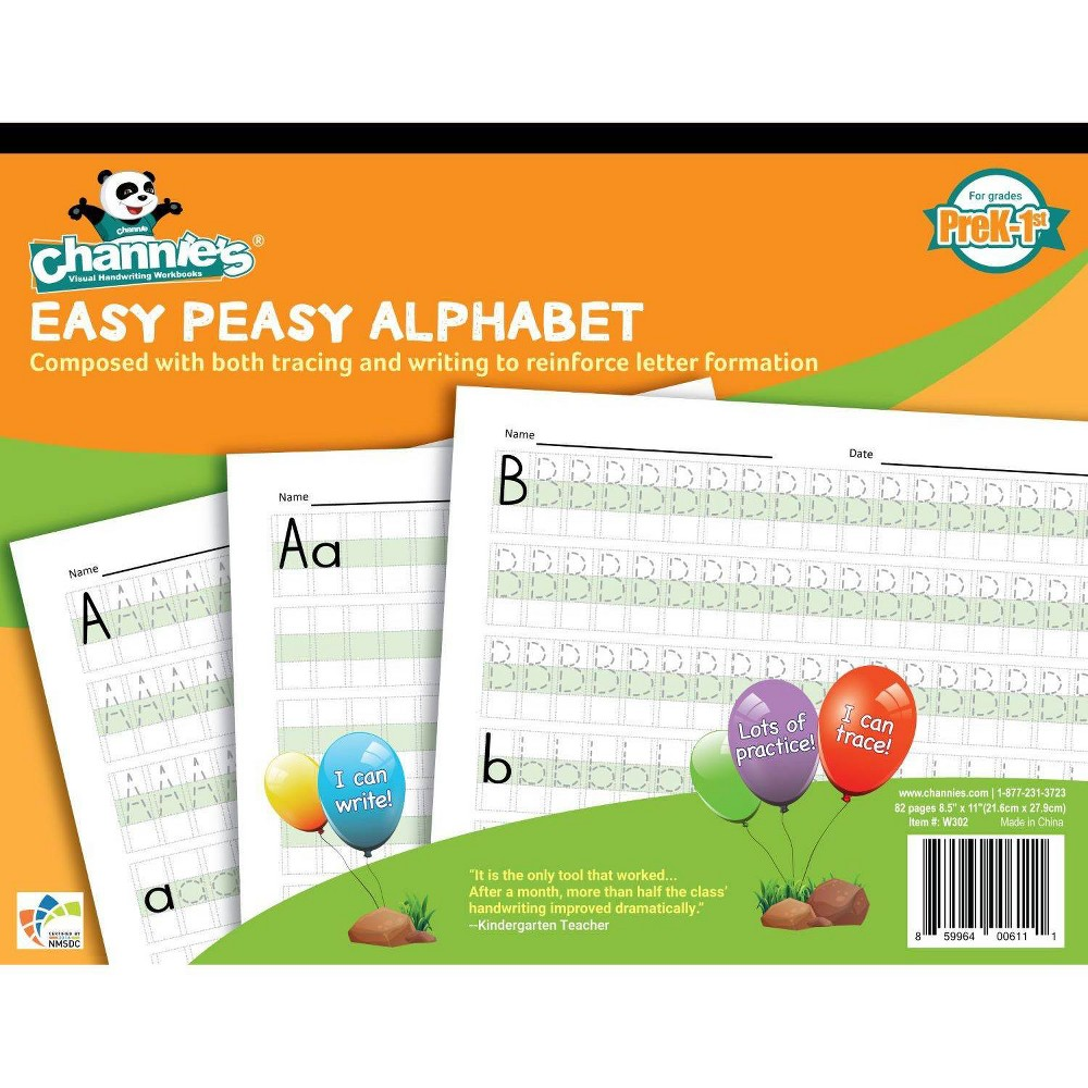 Image of Channe's Easy Peasy Alphabet Workbook