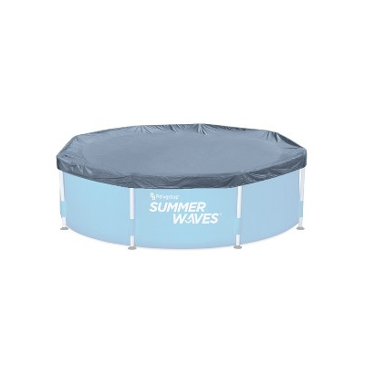 Summer Waves P521800F0 18 Foot Wide Diameter Active Frame Above Ground Round Debris Dirt Insect Pool Cover, Grey (Cover Only)