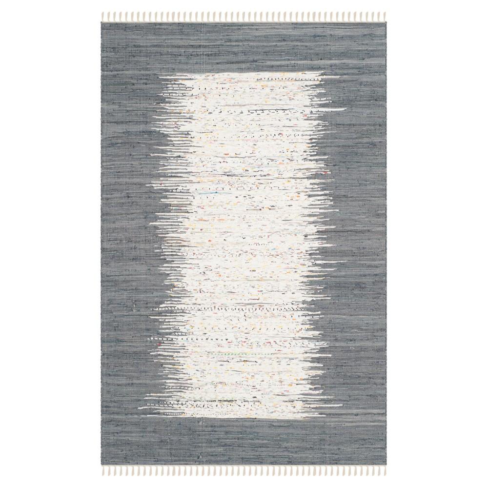 Bettina Flatweave Area Rug - Ivory / Gray (6' X 9') - Safavieh