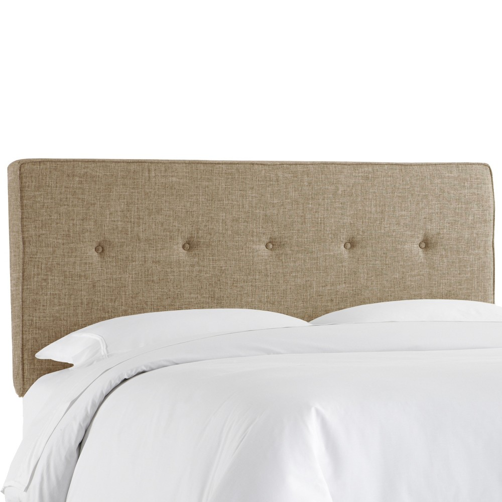 Twin Five Button Headboard Cobblestone - Project 62 Coupons