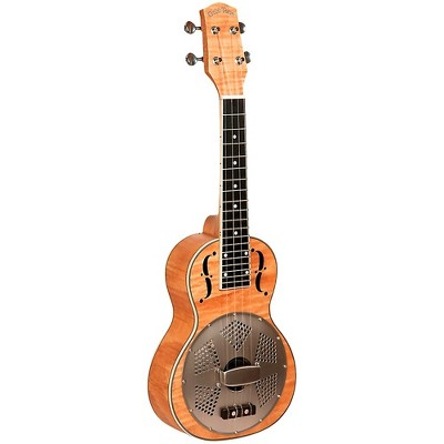 Gold Tone Concert-Scale Curly Maple Resonator Ukulele with Gig Bag Natural