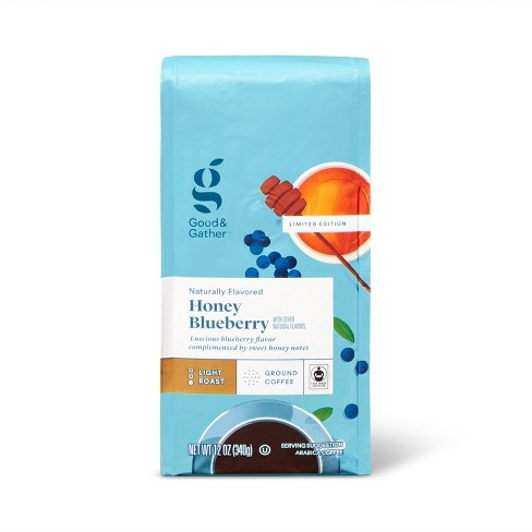 Naturally Flavored Honey Blueberry Bagged Coffee Light Roast -12oz - Good & Gather™ - image 1 of 3