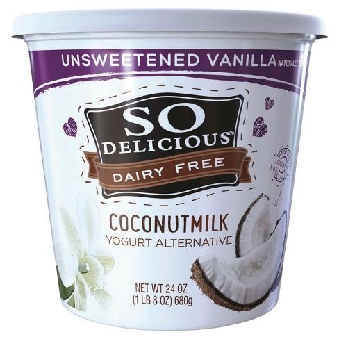 So Delicious Dairy-Free Unsweetened CoconutMilk Vanilla Yogurt Alternative - 24oz - image 1 of 1