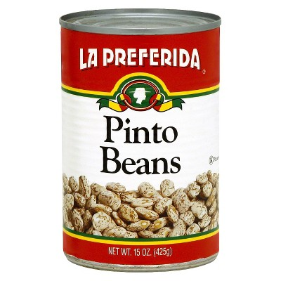 Beans: La Preferida Pinto Beans Canned