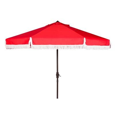 Milan 9' Auto Tilt Crank Umbrella - Safavieh