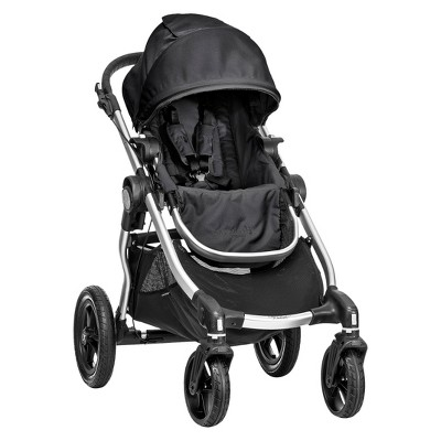 Baby Jogger City Select® 4-Wheel Stroller - Onyx with Silver Frame