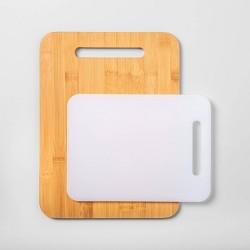 2pc Bamboo and Poly Cutting Board Set - Made By Design™