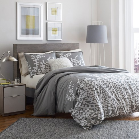 Dark Gray Branches Comforter Set Twin