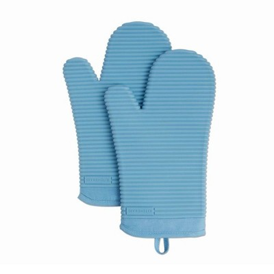 KitchenAid 2pk Silicone Ribbed Oven Mitts
