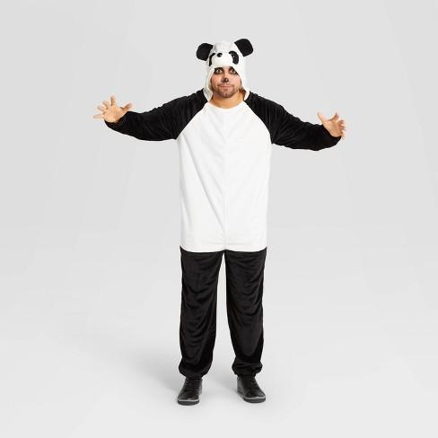 Adult Plush Panda Halloween Costume Jumpsuit - Hyde & EEK! Boutique™ - image 1 of 3