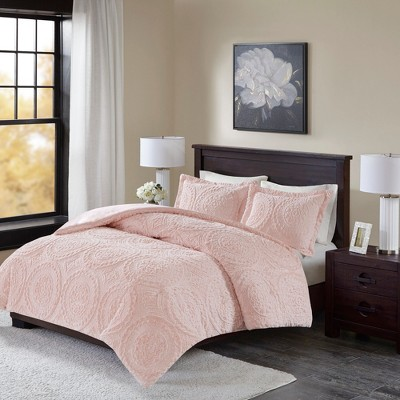 Blush Alivia Ultra Plush Comforter Mini Set Full/Queen