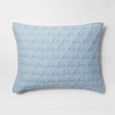 Caspian Sea Triangle Stitched Jersey Sham (King)- Project 62™ + Nate Berkus™